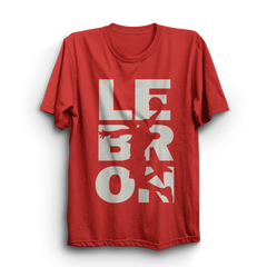 Lebron Red Half Sleeves T-Shirt