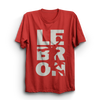 Image of Lebron Red Half Sleeves T-Shirt