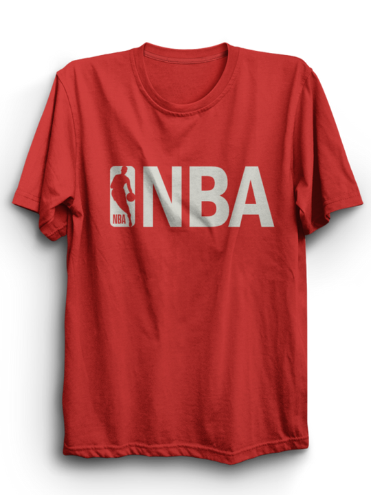 NBA Red Half Sleeves T-Shirt