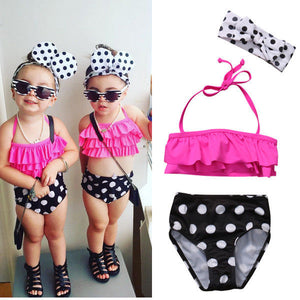 09c8f97d09e27 Cute Toddler Kids Baby Girls Clothing Set Halter Swimsuit Swimwear Bathing  Suit Tankini Bikini Set Girl Clothes