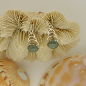 Tortola Green Jasper Earrings 3.2g
