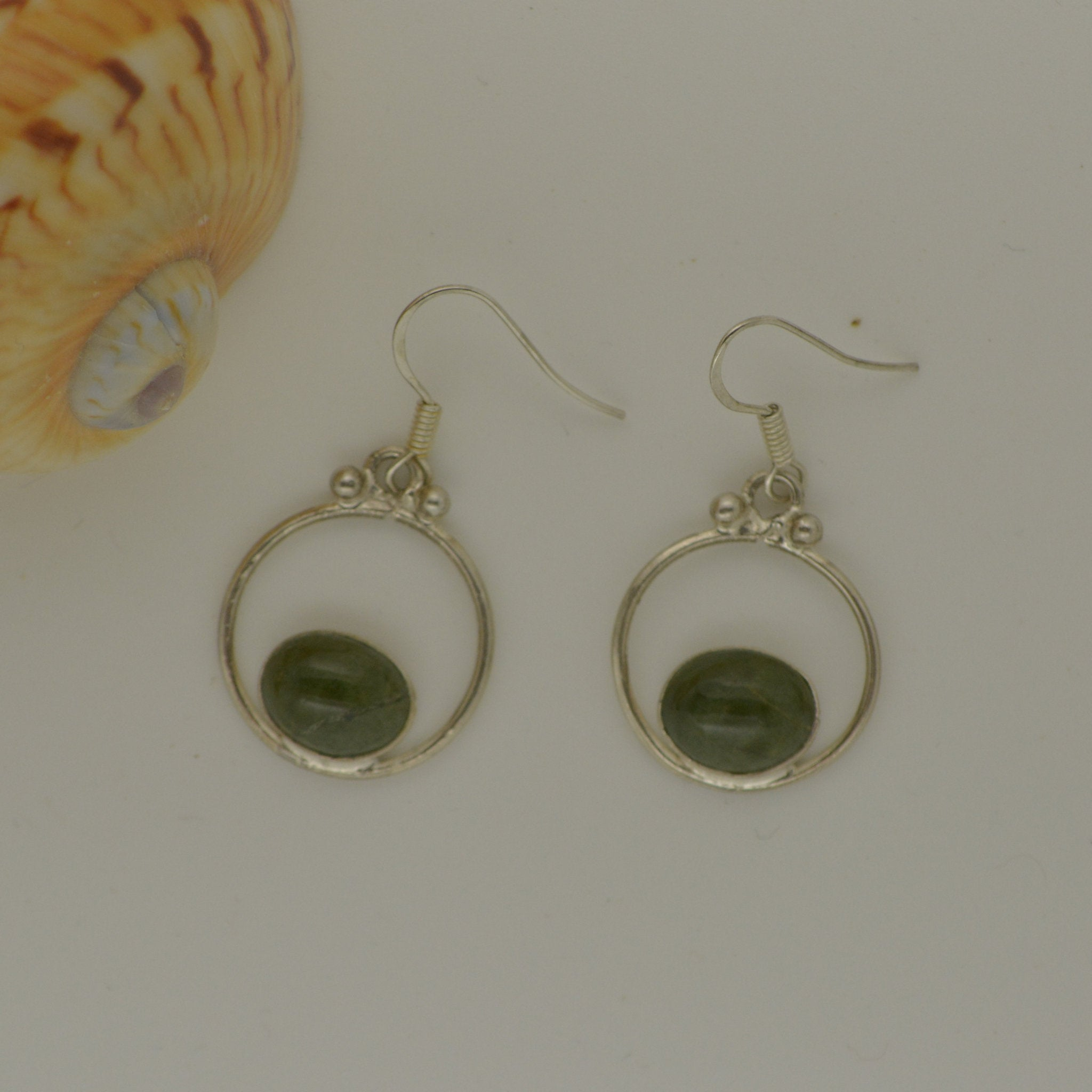 Tortola Green Jasper Earrings 4.2g