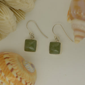 Tortola Green Jasper Earrings 5.2g