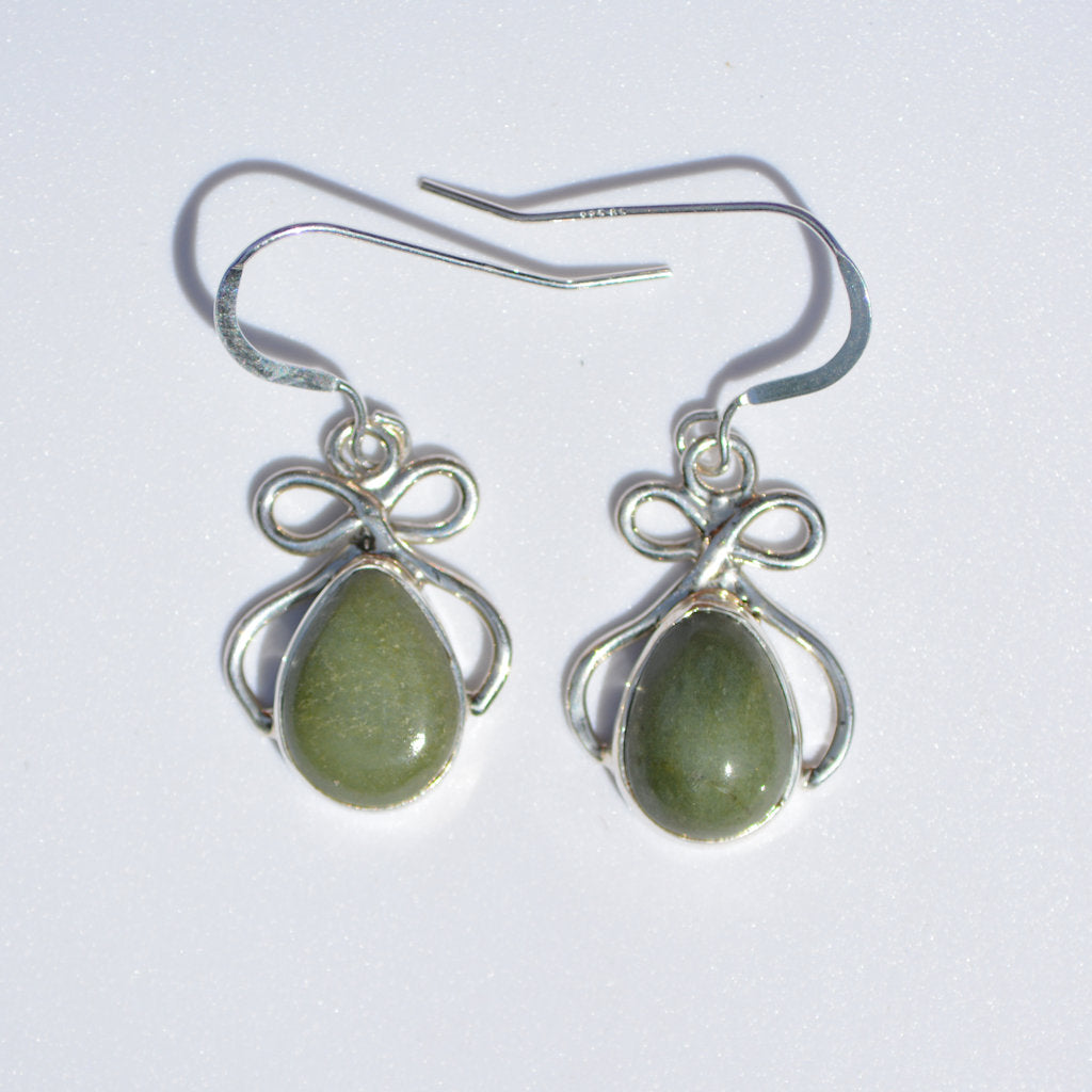 Tortola Green Jasper Dangle Earrings