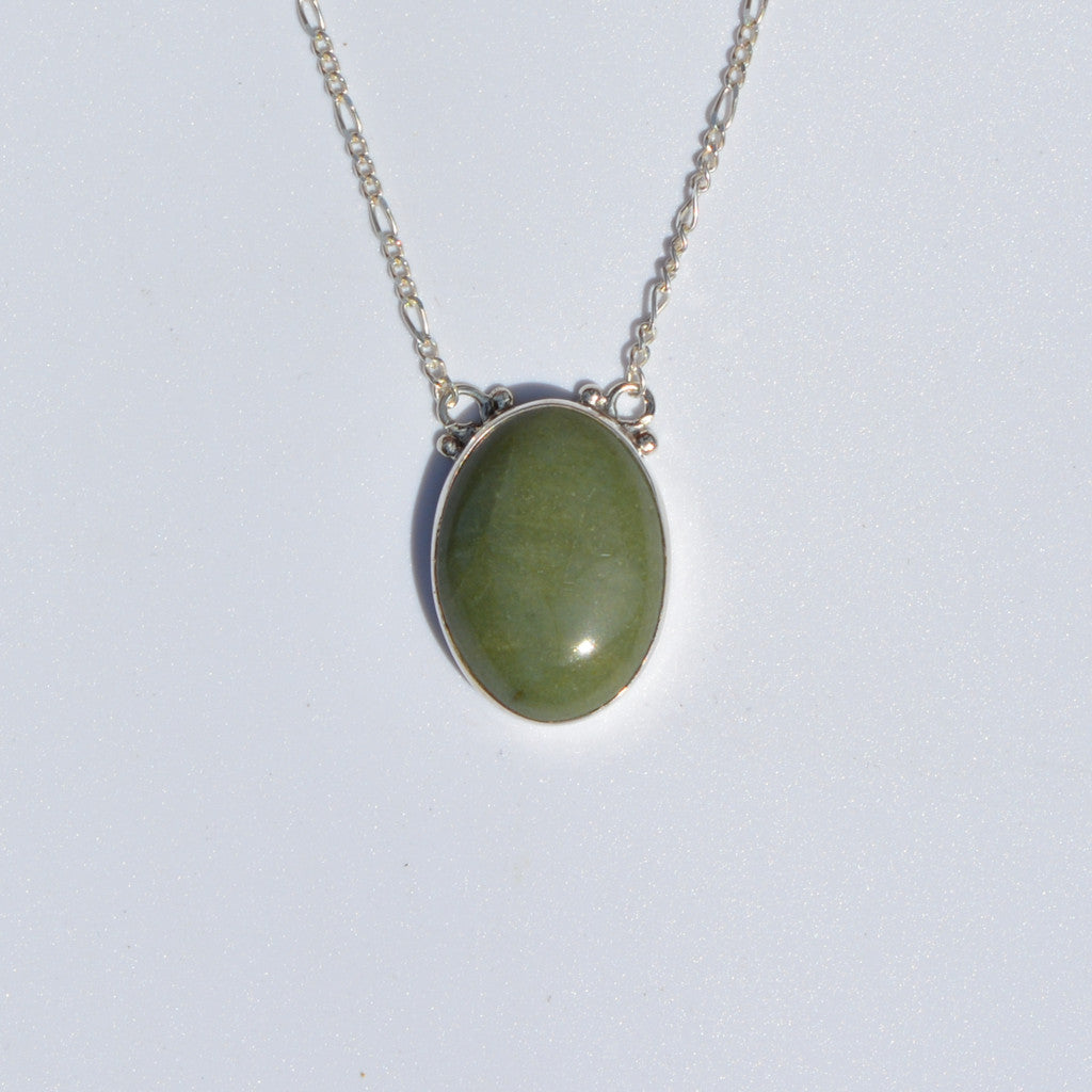 Tortola Green Jasper Medium Necklace