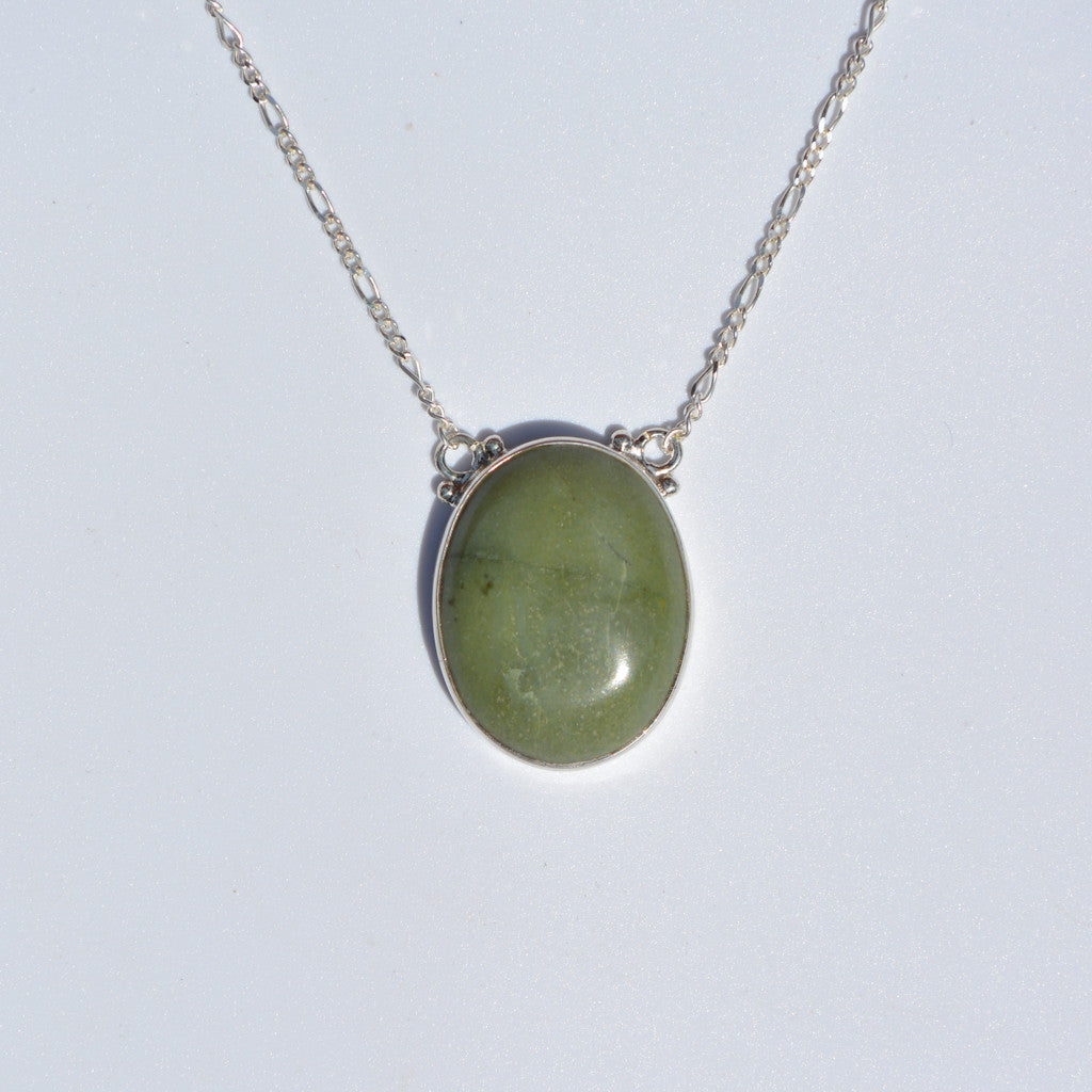 Tortola Green Jasper Large Necklace