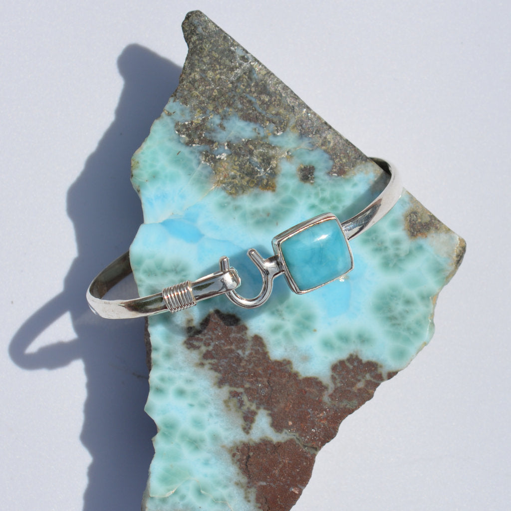 Larimar Caribbean Hook Bangle