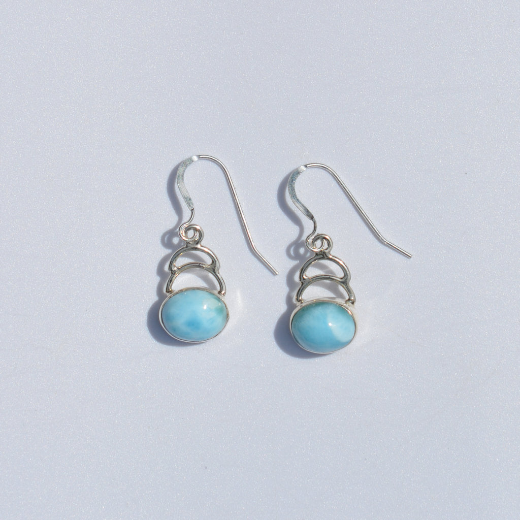 Larimar Step Dangle Earrings