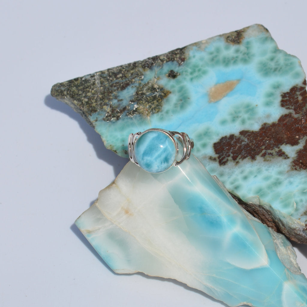 Larimar Step Ring