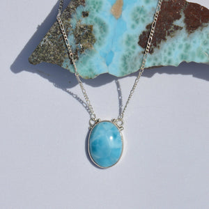 Larimar Medium Oval Necklace