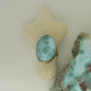 Large Larimar Ring Size      8.4g