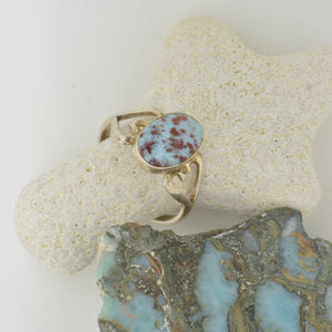 Small Larimar Ring   Size 8.5      3.1g