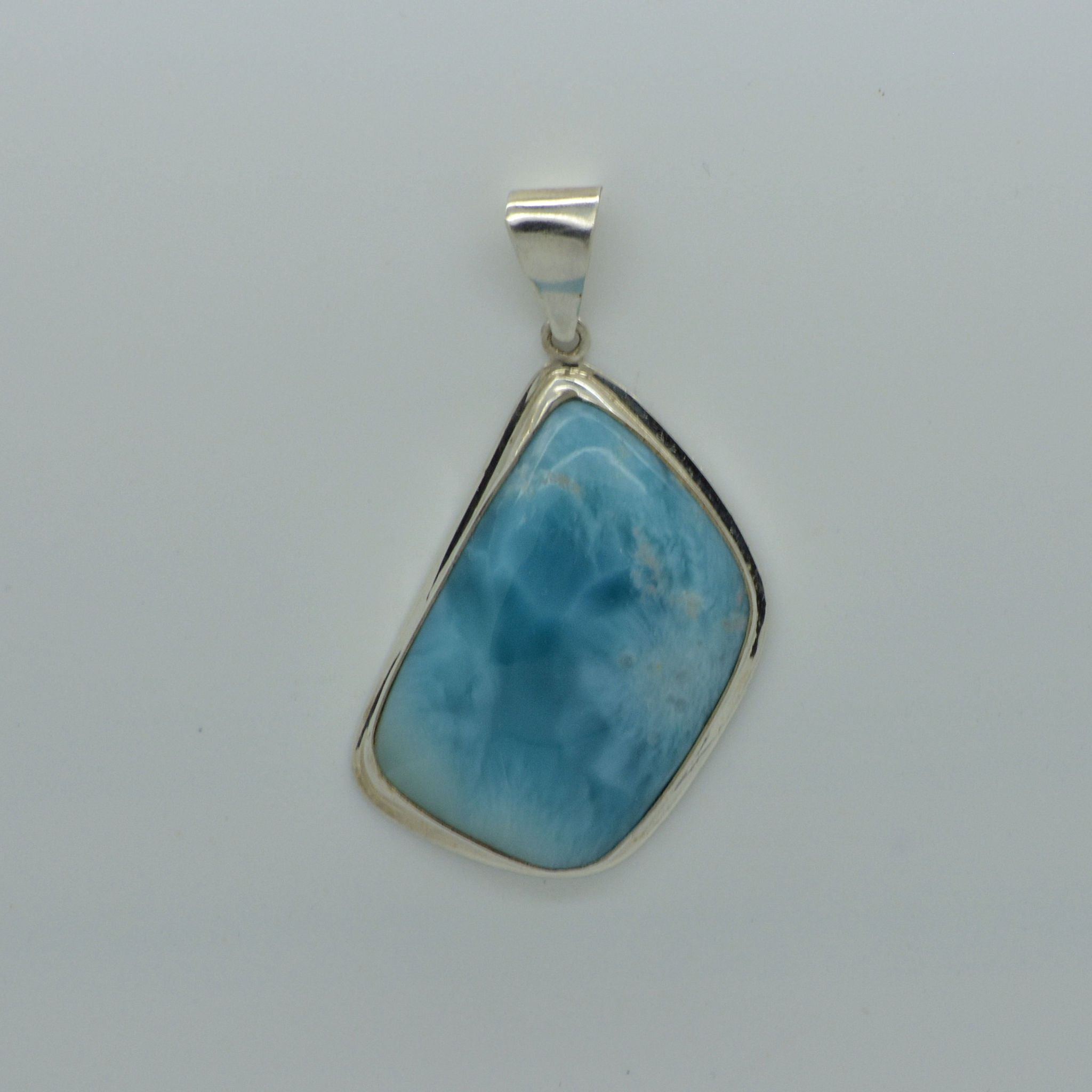 Medium Larimar Abstract Pendant 13.4g