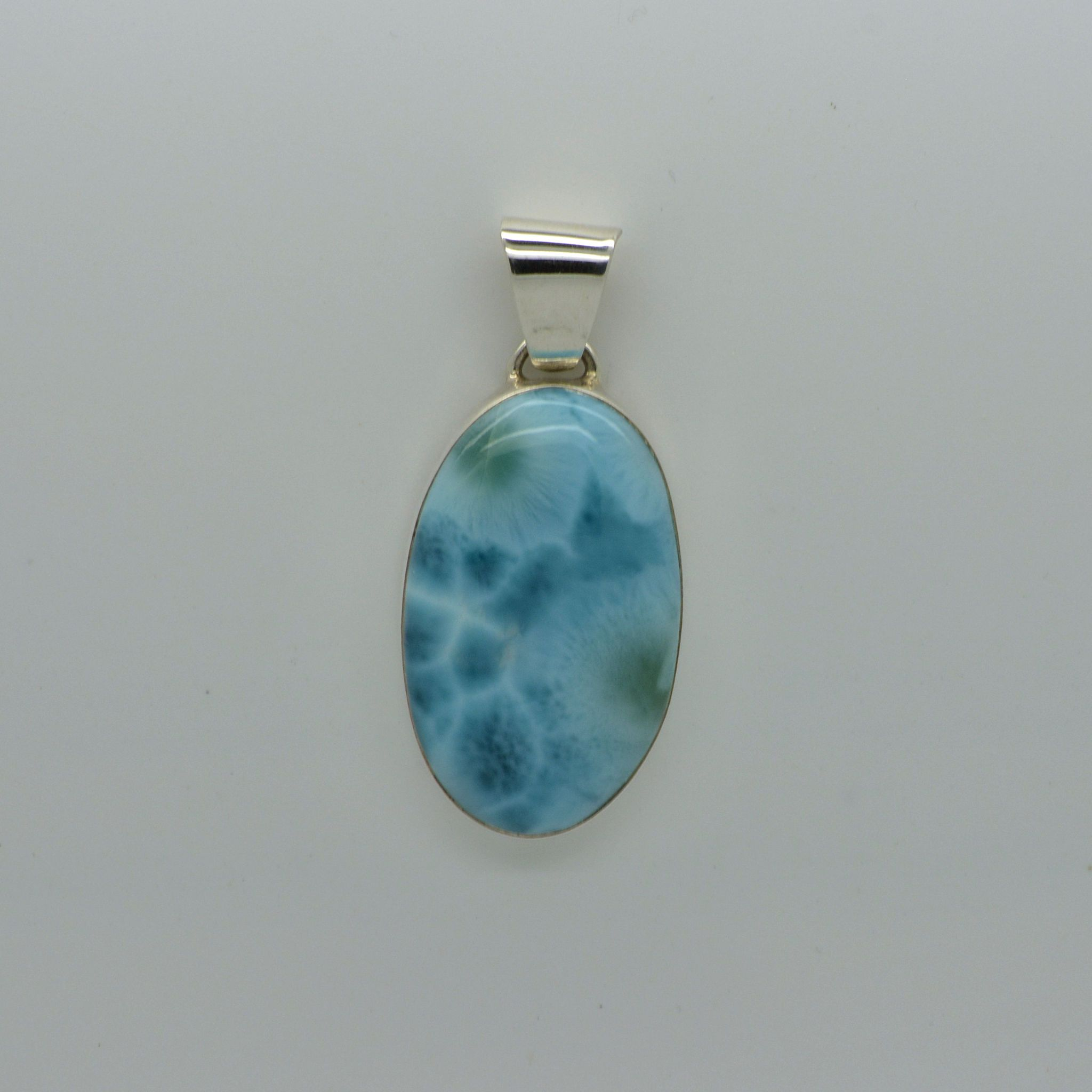 Medium Larimar Oval Pendant      14.7g