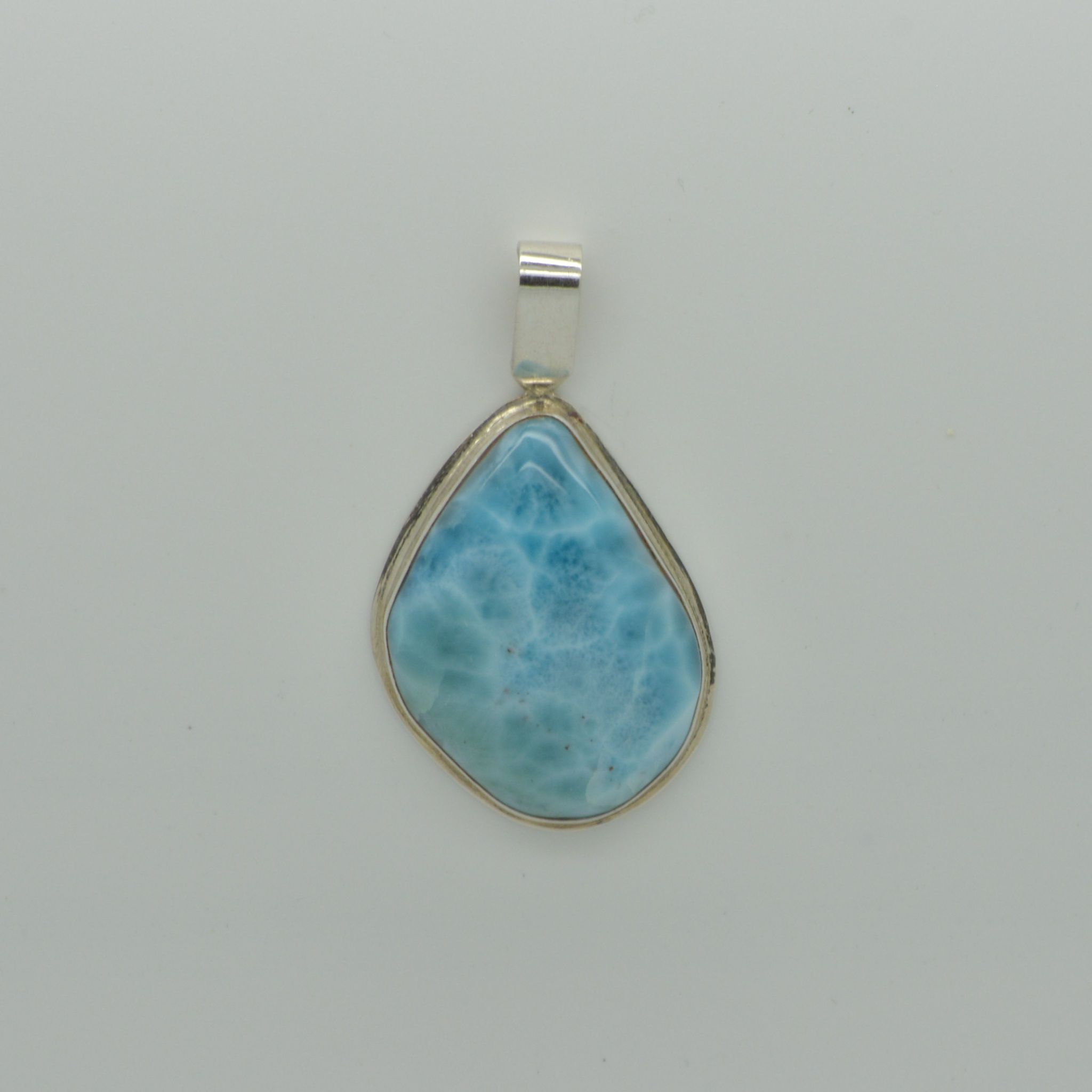 Medium Larimar Pear Pendant       11.8g