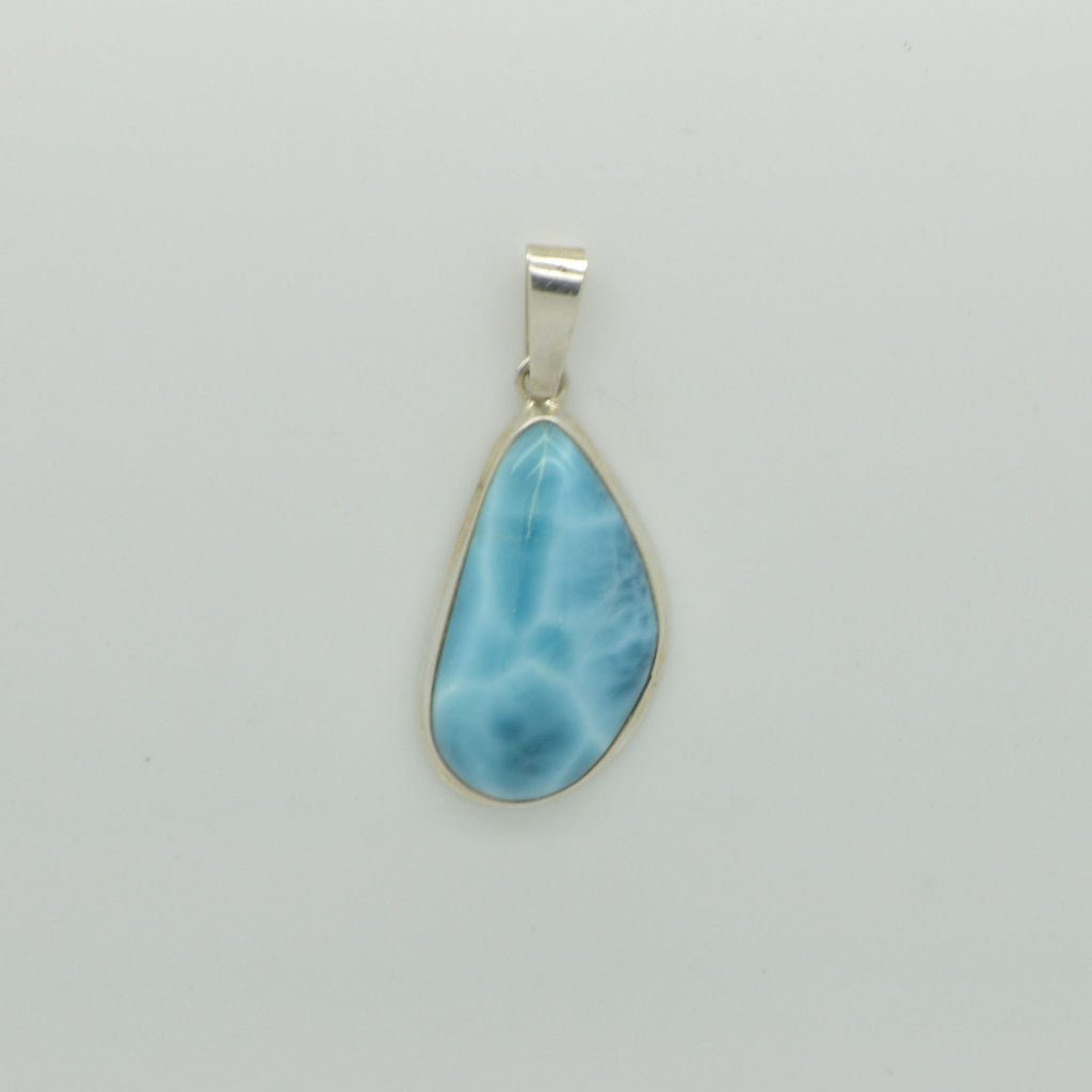 Small Larimar abstract Pear Pendant   5g
