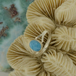 Small Larimar Ring Size 8.5  2.1g