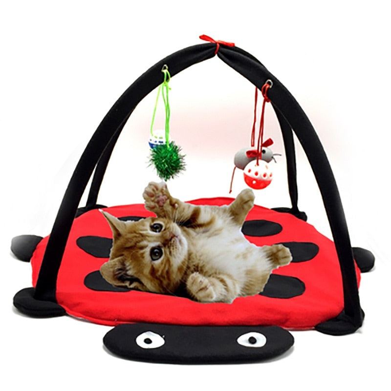 Pet Cat Toys Portable Cat Funny Tent Toys Mobile Activity Small Kitten Play Bed Foldable Pet Cat Play Tent Bed Mat