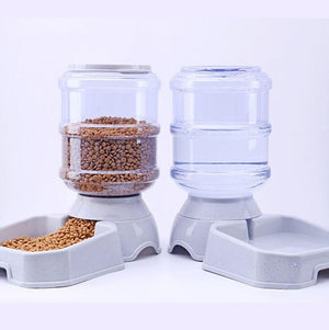 3.8L Pet Automatic Feeder and Water Drinking Cat Feeding Large Capacity Dispenser Pet Cat