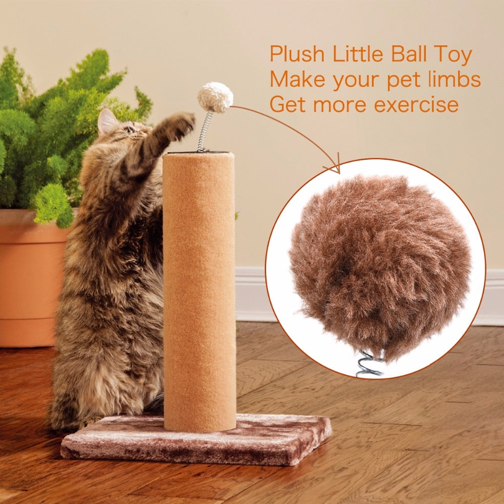 Cat Tree Scratch Pole With Ball Activity Play Toys Climbing ToysFor Kitten Medium Large Cat Furniture