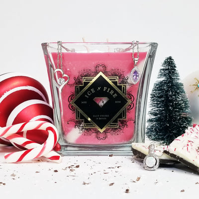 Peppermint Bark Sterling Ring Soy Candle (Limited)