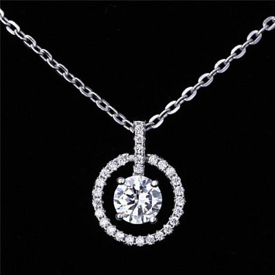 AGNY 18K Gold Plated 925 Sterling Silver White CZ Necklace