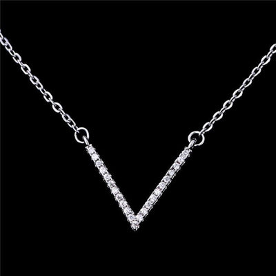 AR7T 925 Sterling Silver CZ Necklace