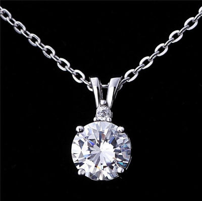 AVB8 18K Gold Plated 925 Sterling Silver White CZ Necklace