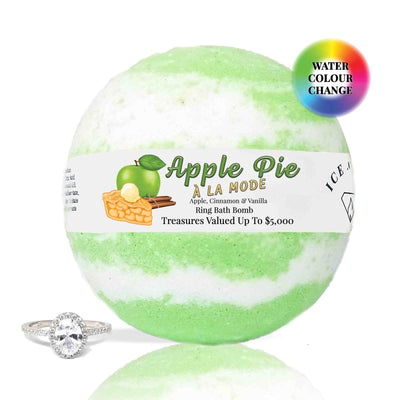 Apple Pie A La Mode Ring Bath Bomb (Apple / Cinnamon / Vanilla)