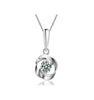 DEEU 925 Sterling Silver CZ Necklace