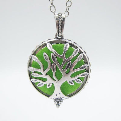 Pendant Locket Essential Oil Diffuser Necklace Tree