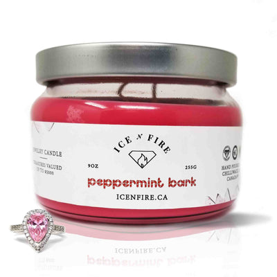Peppermint Bark Classic Ring Soy Candle (Limited)
