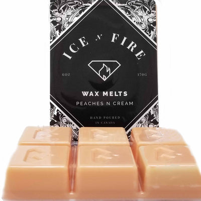 Peaches & Cream Sterling Ring Wax Melt