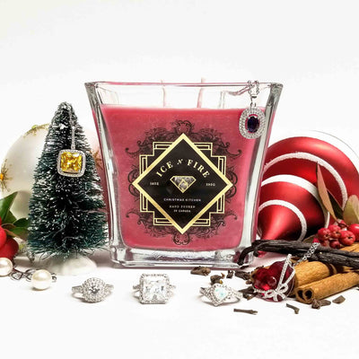 Christmas Kitchen Sterling Ring Soy Candle (Limited)