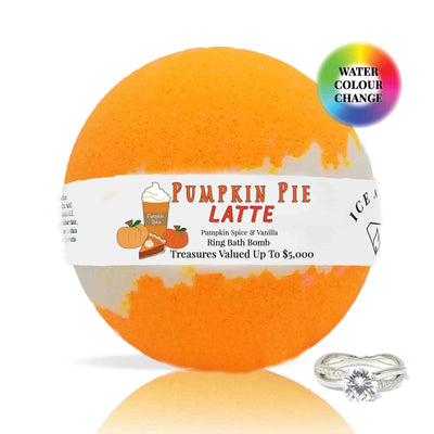 Pumpkin Pie Latte Ring Bath Bomb (Pumpkin Spice / Vanilla)