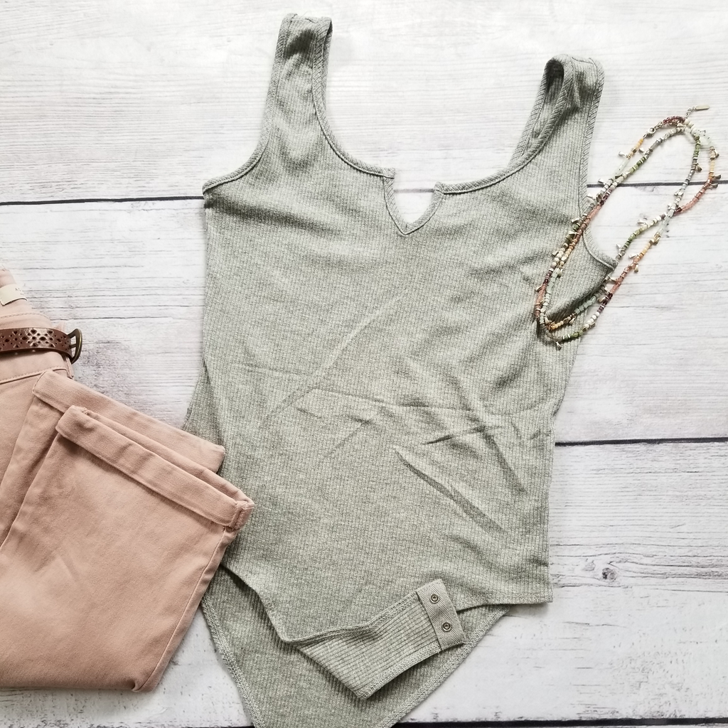 Ribbed Bodysuit Tank