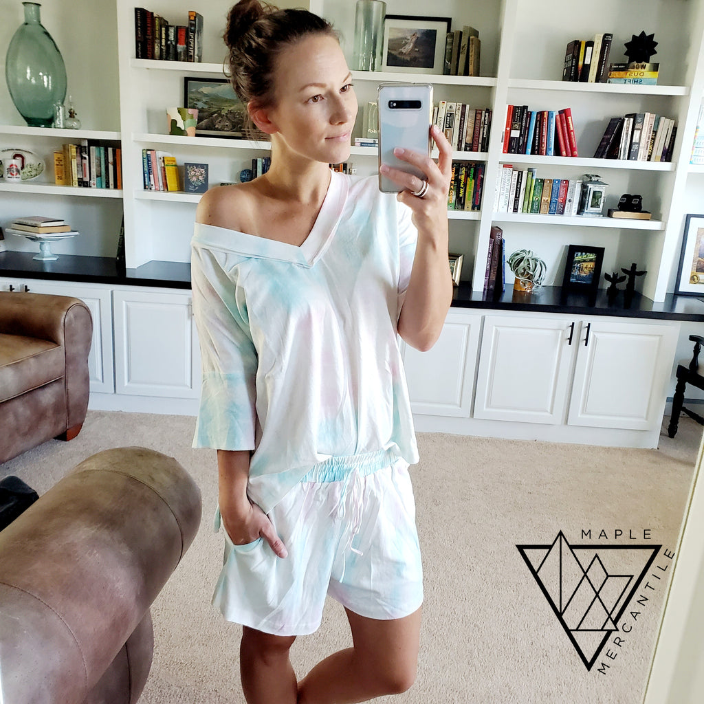 Tie Dye Lounge Set - Cotton Candy