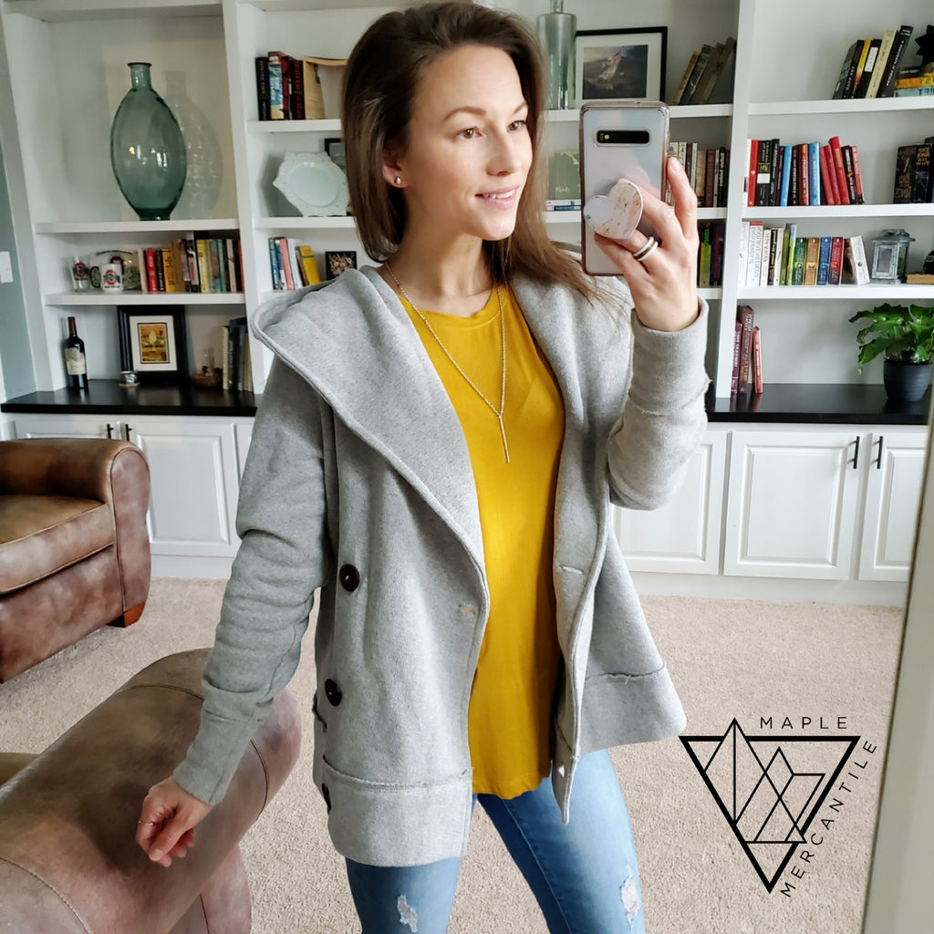 Hooded Boyfriend Cardigan