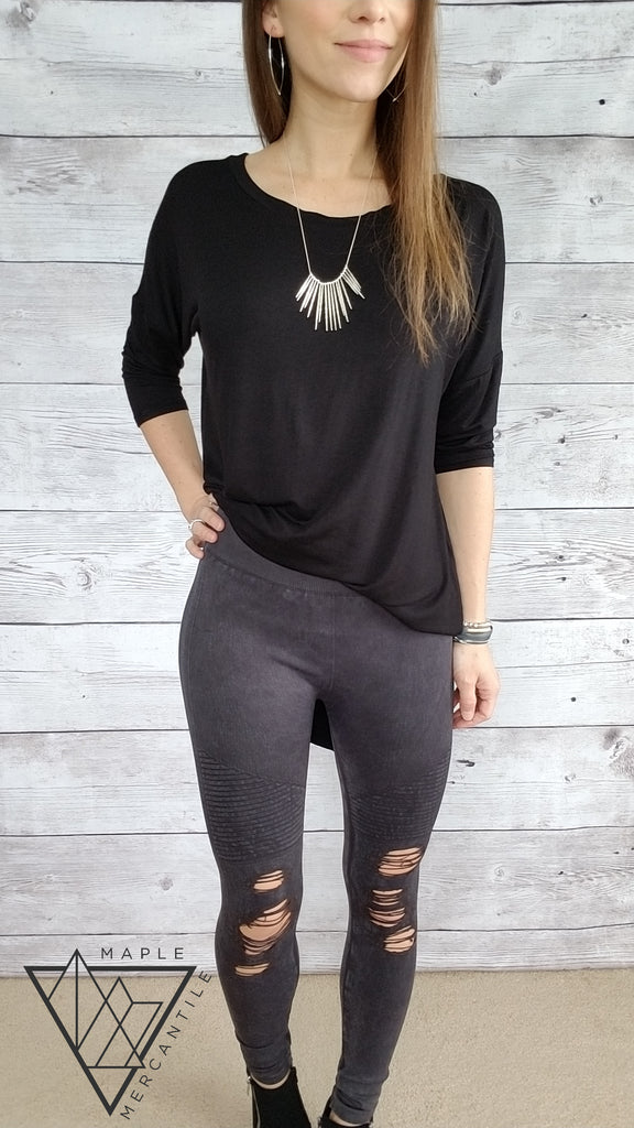 Destroyed Moto Seamless Legging