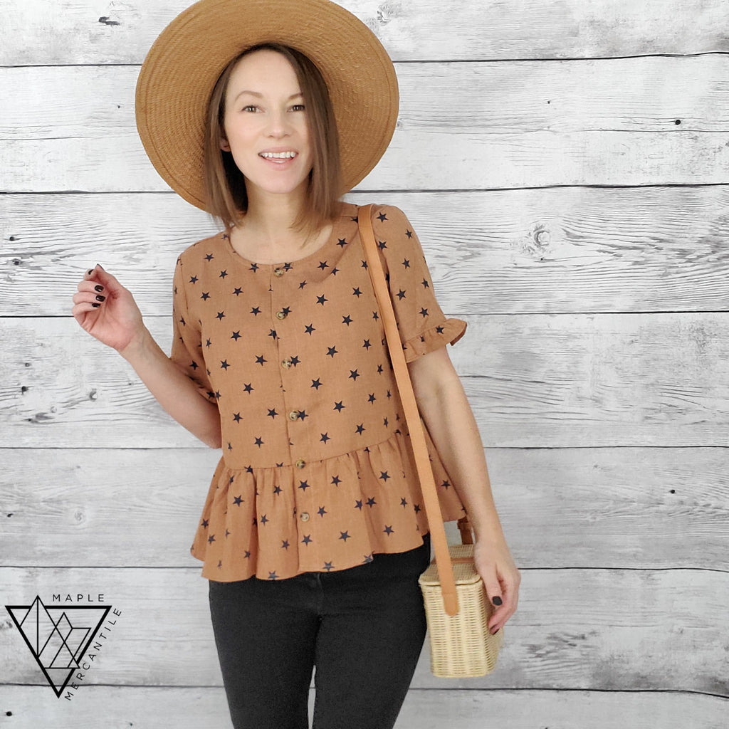 Rusty Star Peplum