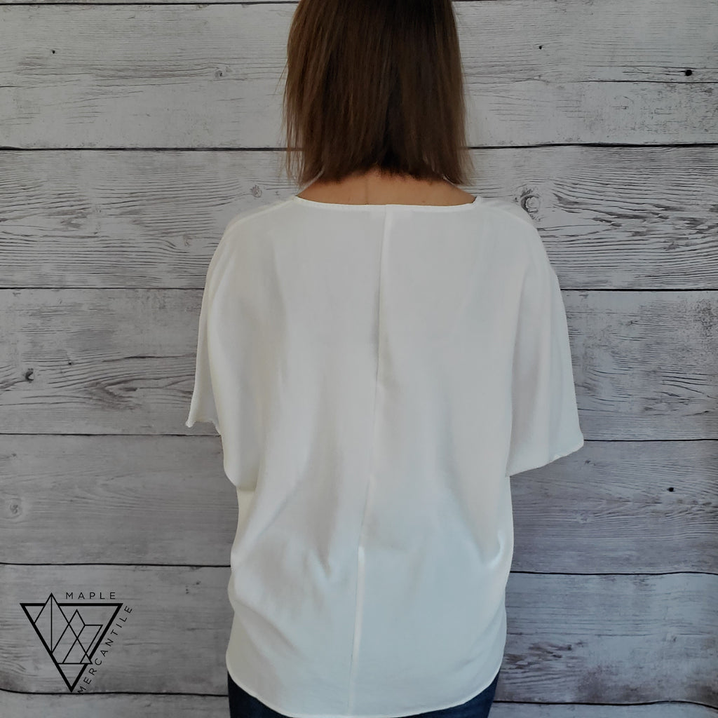 Ivory Textured Slouchy Tunic