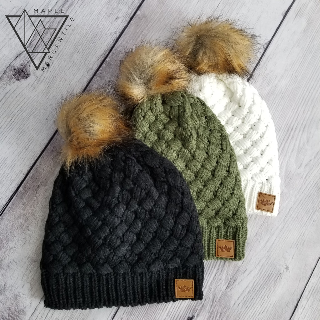 Solid Woven Beanies