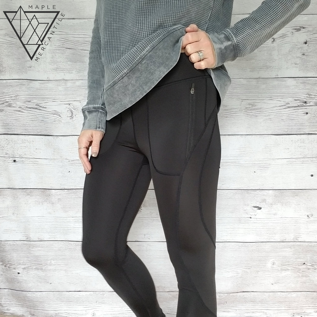 Zippered Pocket Yoga Pants