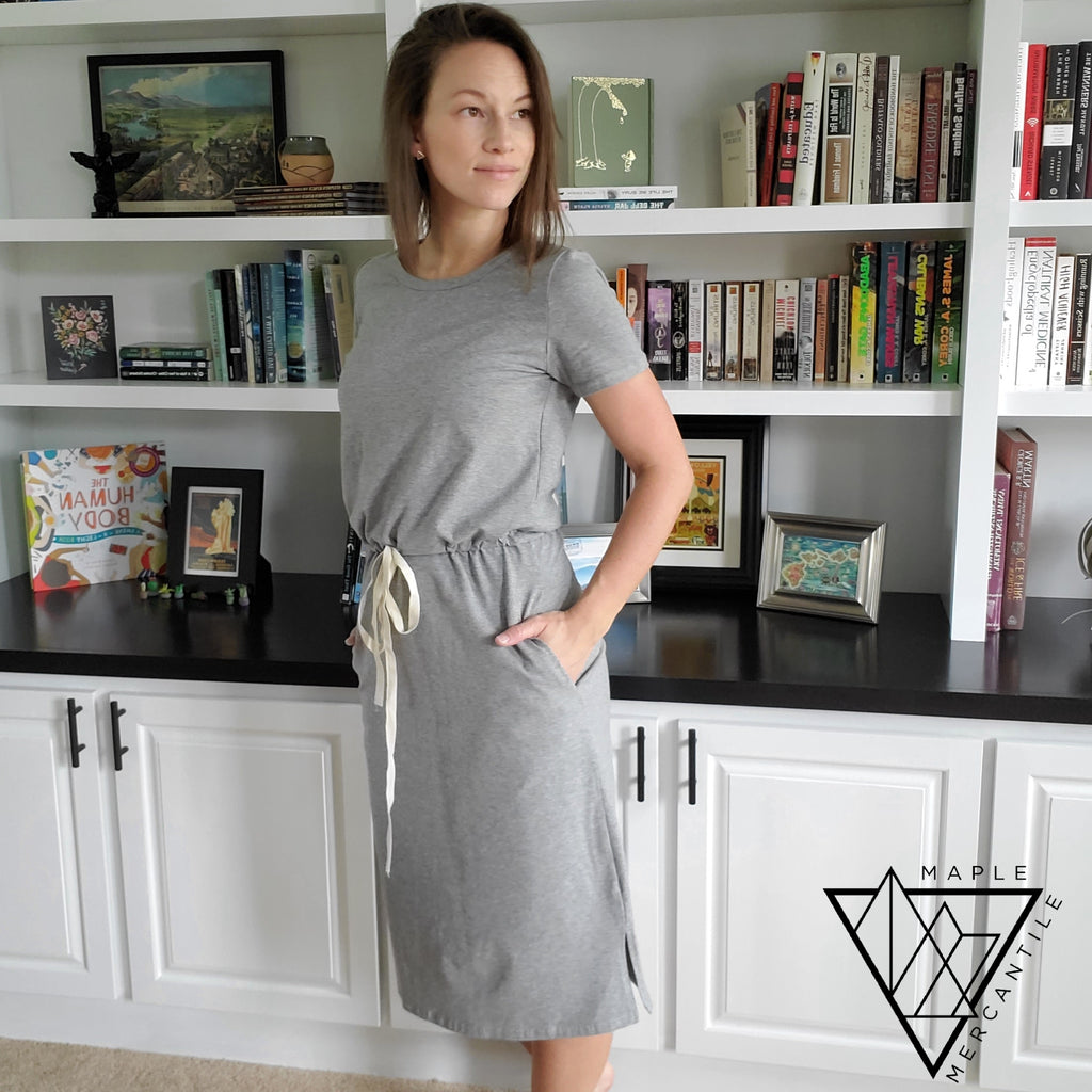 Drawstring T-Shirt Dress
