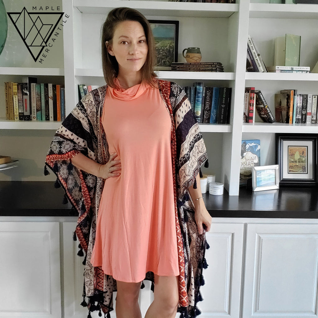 Mask Tunic Dress