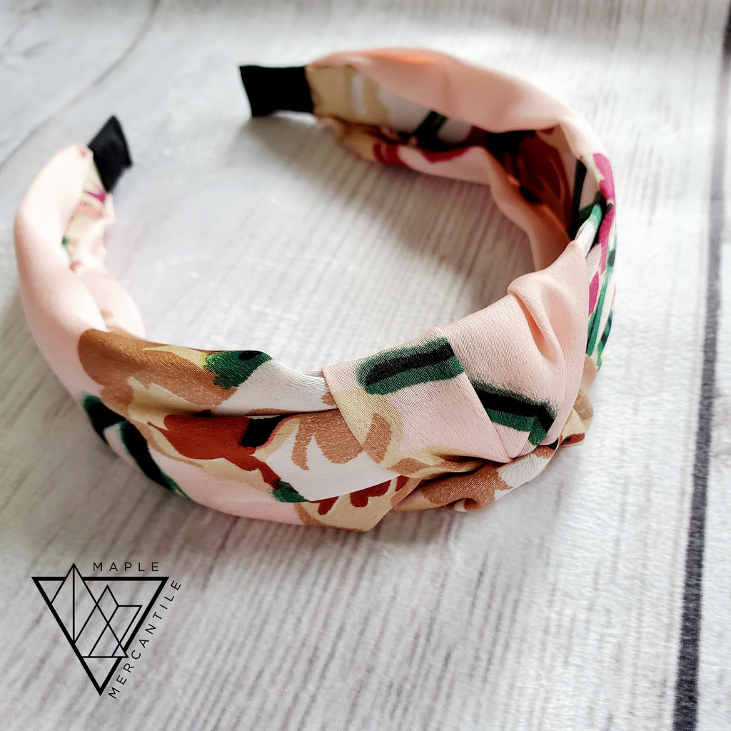 Straw and Floral Headbands