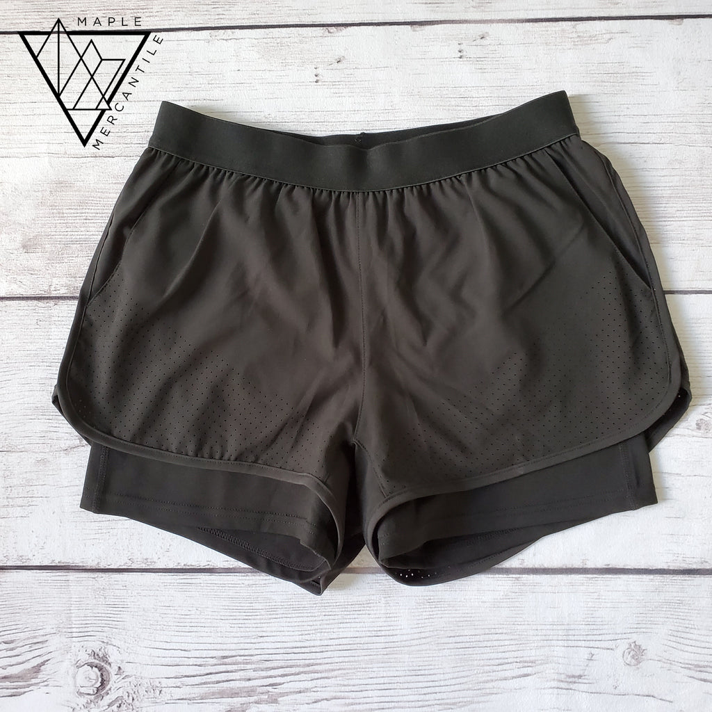 Perforated Gym Shorts
