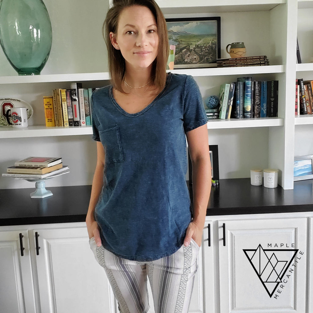 Washed Out V-Neck Tee