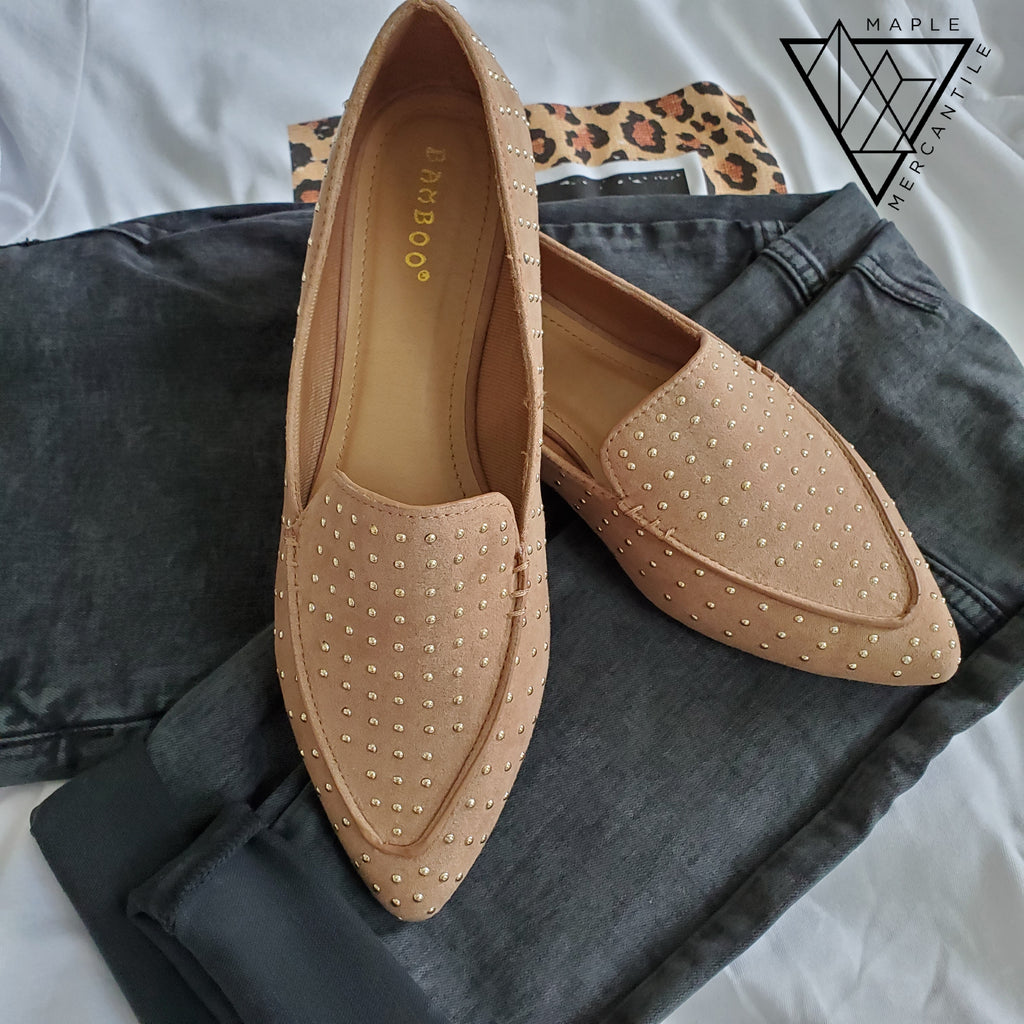 Studded Flat Loafer