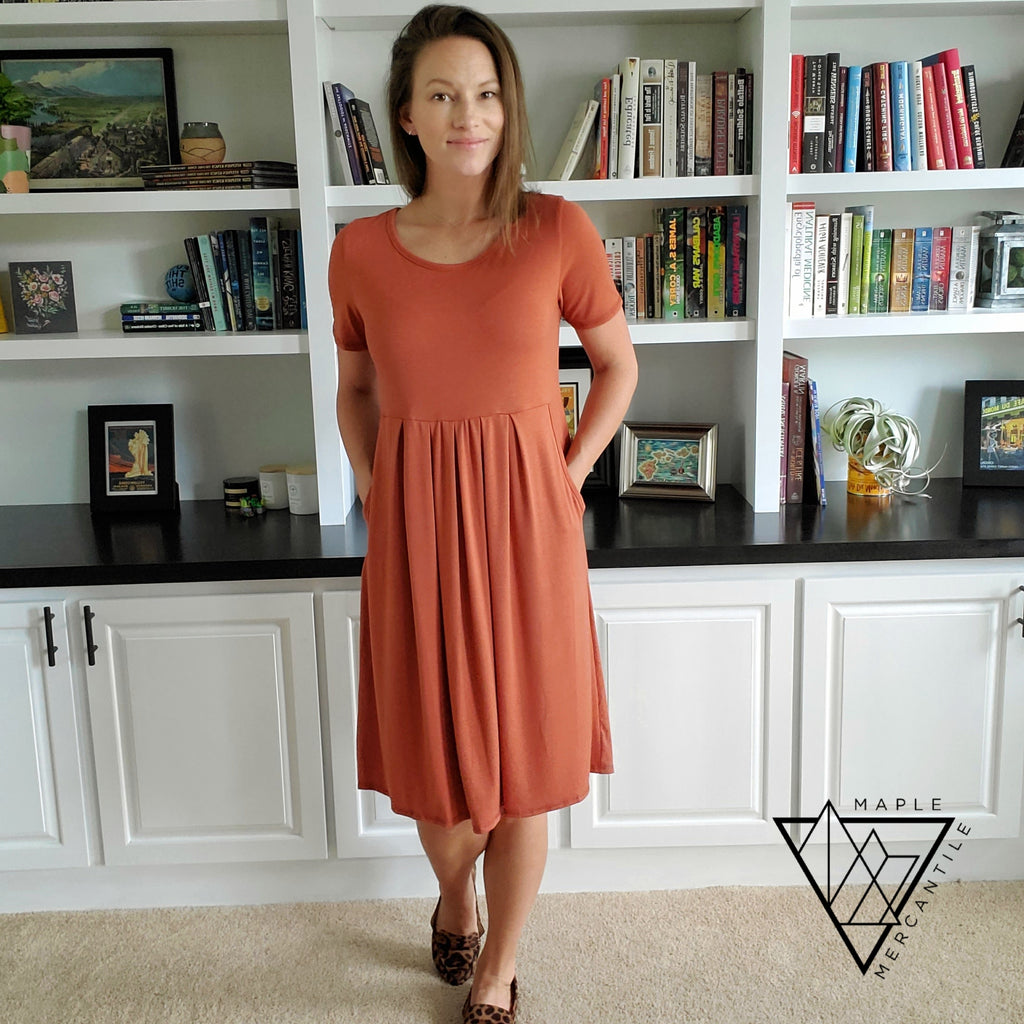 The Back to Fall Pocket Dress - 5 Colors
